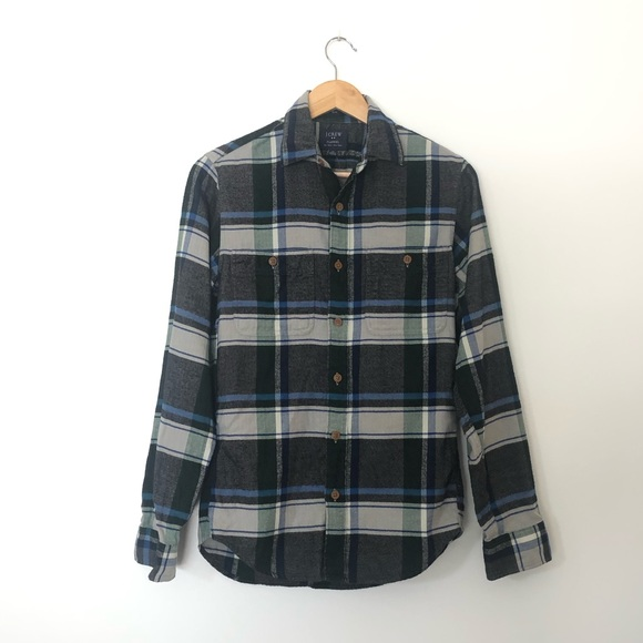 NWT J. Crew Men's Flannel Cotton Shirt Slim Fit XS